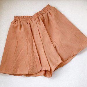 Pants - Bohemian Tan Terracotta Flowy Skort Small Size